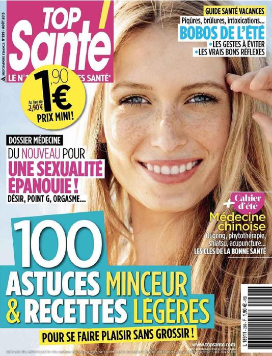 Bertrand Bimont expert dans le magazine Top Santé d'août 2015