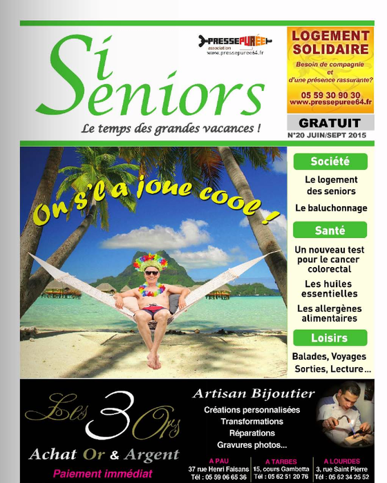 Les Baumes des titans dans le magazine Si Seniors