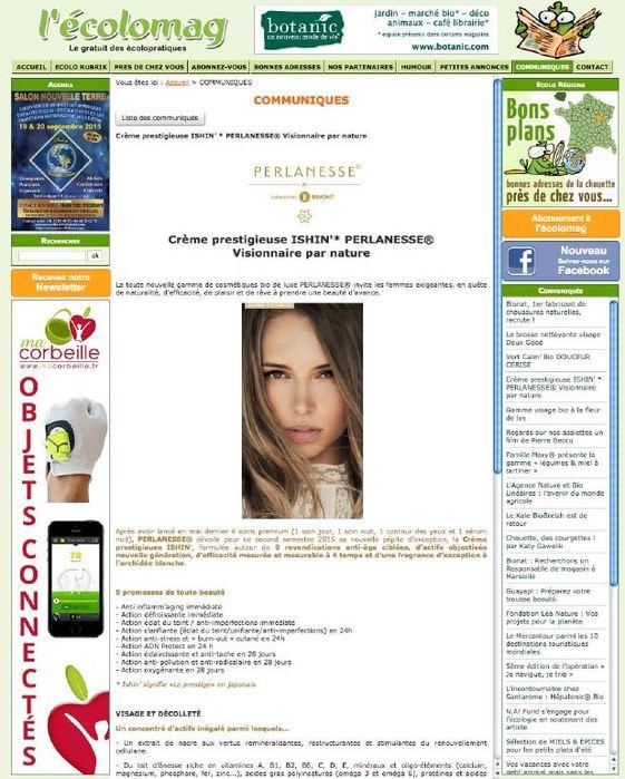 Ishin' sur le site Ecolomag