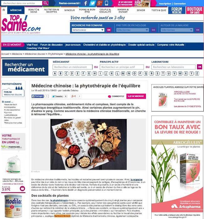 Bertrand Bimont expert sur le site Top Santé