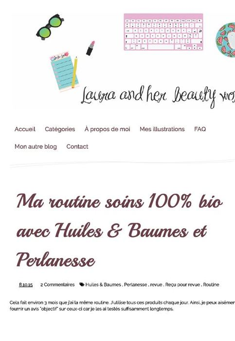 La gamme Perlanesse sur le blog Laura and her beauty world