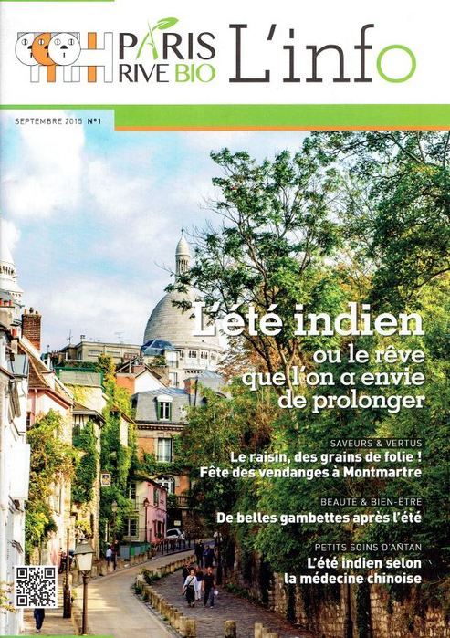 Interview de Bertrand Bimont dans le magazine Paris Rive Bio