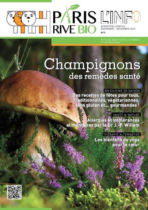 Ishin' est dans le magazine Paris Rive Bio (Novembre-Décembre 2015)