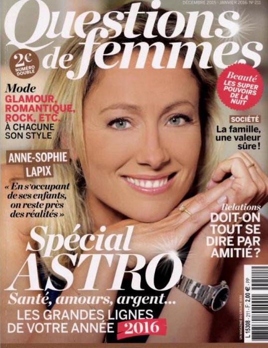 QUESTIONS DE FEMME - DECEMBRE 2015 / PRESSE
