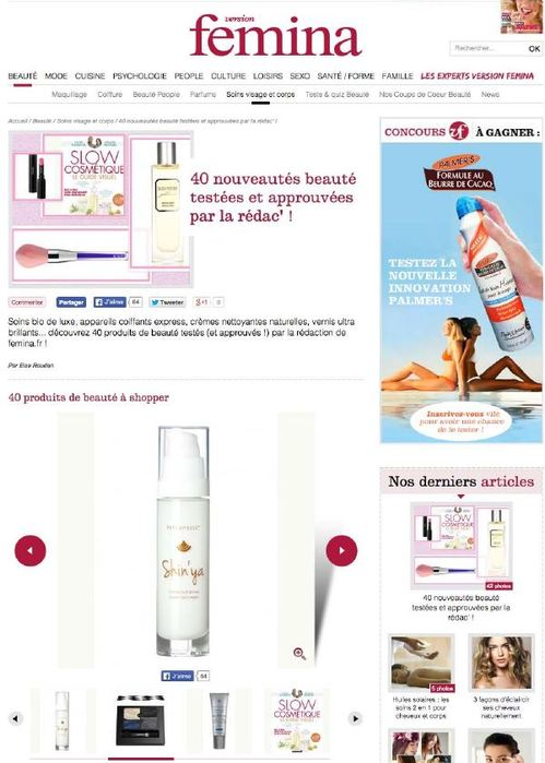 Perlanesse sur le site Version Femina