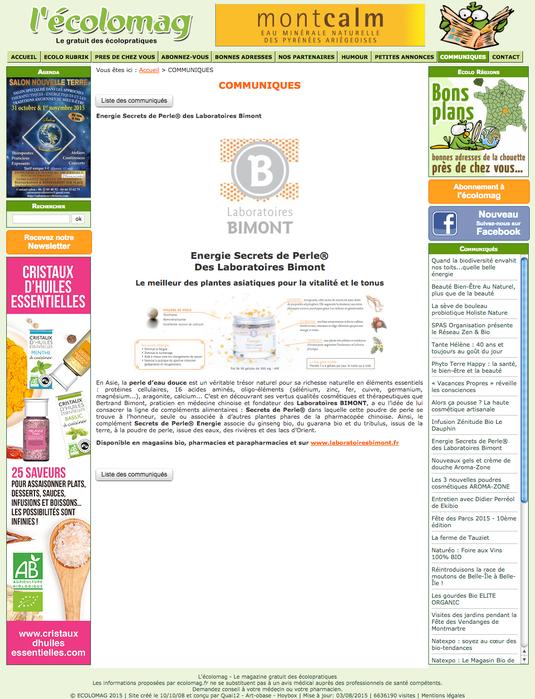 Energie sur le site L'Ecolomag