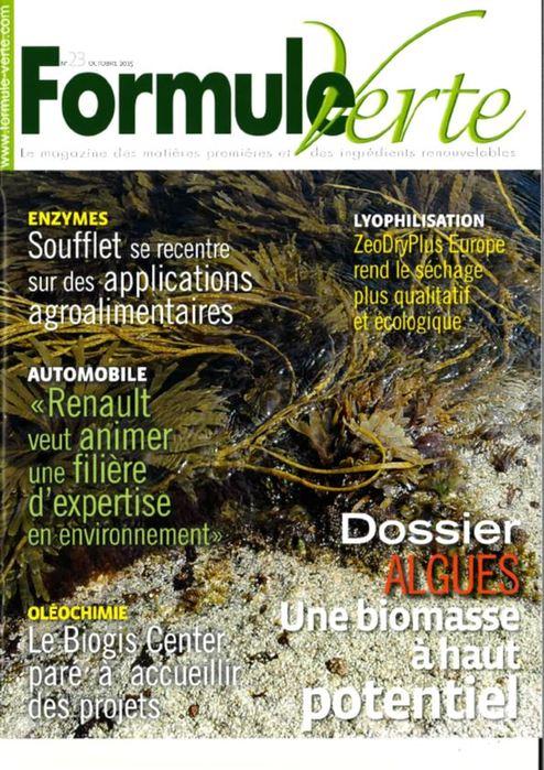 Ishin' dans le magazine Formule Verte