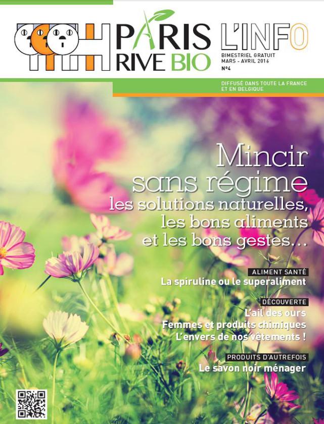 PARIS RIVE BIO - MARS AVRIL 2016 / PRESSE