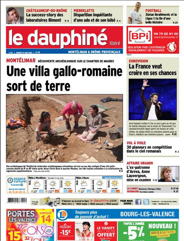 LE DAUPHINE LIBERE - 14 MAI 2016 / PRESSE