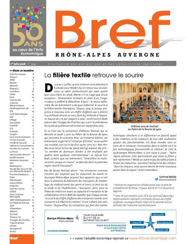 MAGAZINE BREF - JUIN 2016 / PRESSE