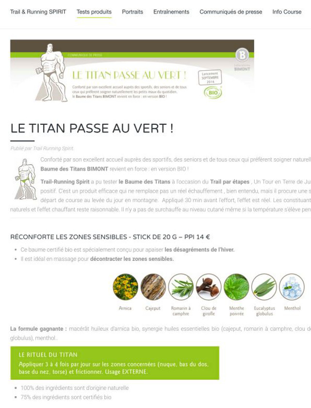 TRAIL RUNNING - AOUT 2016 / WEB