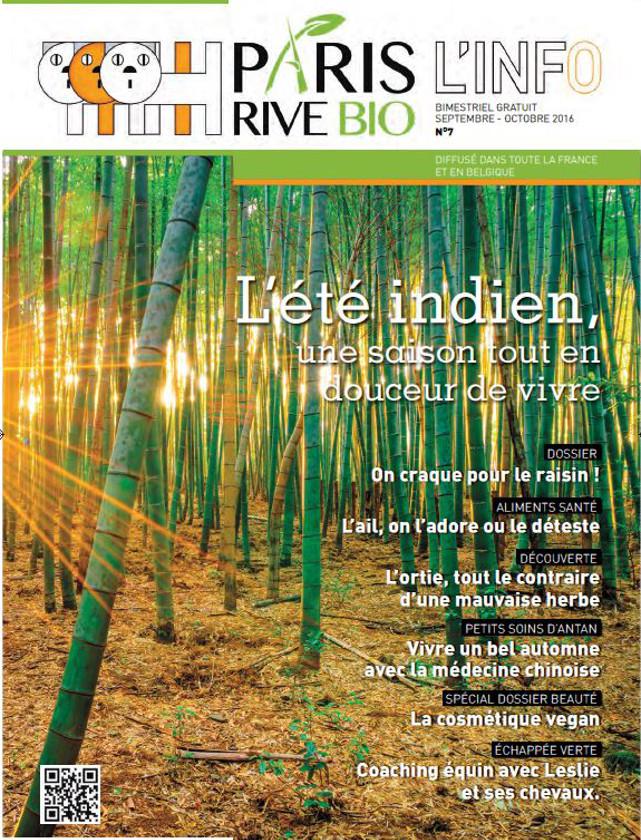 PARIS RIVE BIO - SEPTEMBRE OCTOBRE 2016 / PRESSE