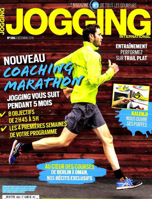 JOGGING INTERNATIONAL - NOVEMBRE 2016 / PRESSE