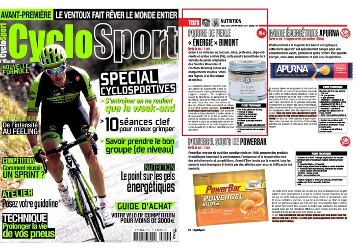 Energie dans Cyclo Sport