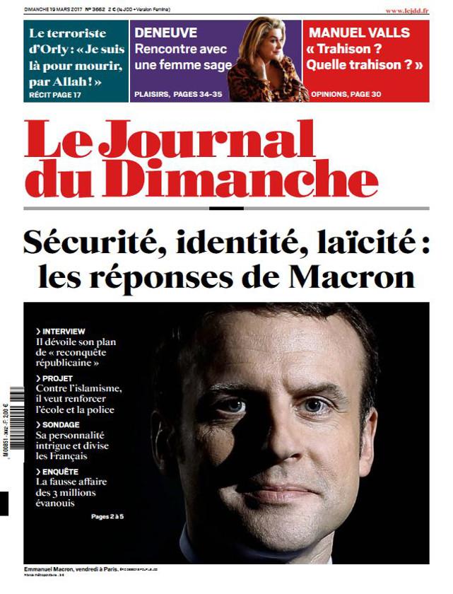 LE JOURNAL DU DIMANCHE - MARS 2017 / PRESSE