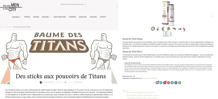 les baumes des titans dans the new men in the city