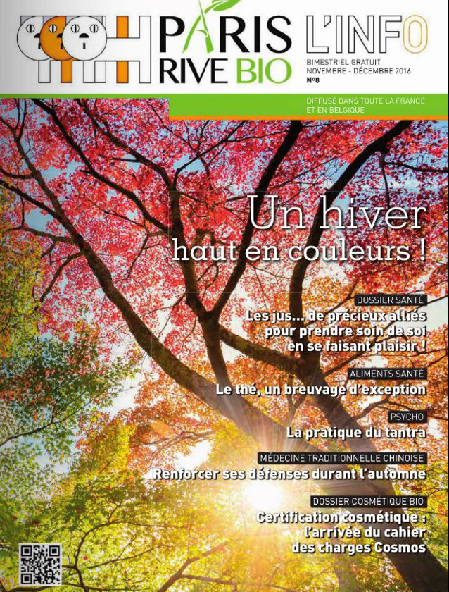 PARIS RIVE BIO - NOVEMBRE DECEMBRE 2016 / PRESSE