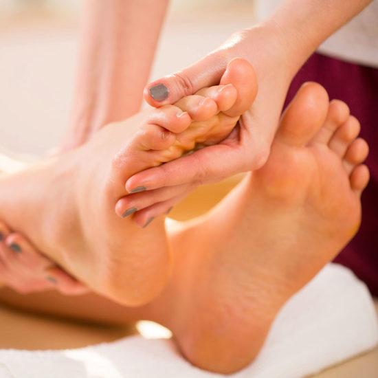 Massage plantairepour un état de bien-être